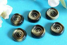 """152TERC / Chequerboard Big Buttons """" Lichen """" Set Of 6 Buttons Ép. 1960/70"""