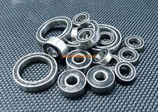 [BLACK] [14 PCS] Rubber Ball Bearing Bearings FOR SCHUMACHER Mi-3 / Mi-3.5 / Mi3