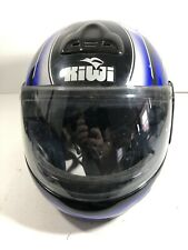 Kiwi Motorcycle Helmet Size Medium Blue & Black K180