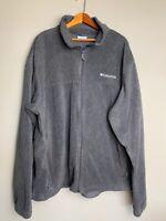 Columbia Mens  100% Polyester Long Sleeve Full Zip Fleece Jacket Sz XL Gray Mint