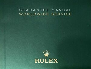 Rolex  Authentic  Booklet Owners Guarantee Manual Worldwide Service Eng,   Mint!