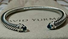 David Yurman 5mm cable bracelet blue topaz
