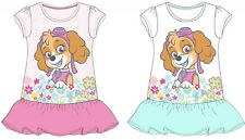Girls Day Dresses Outwear Paw Patrol Skye with flowers for 3 to 8 year