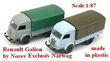 Set de 2 Renault Galion 2,5t bâchés  - Norev - Echelle 1/87 - Ho