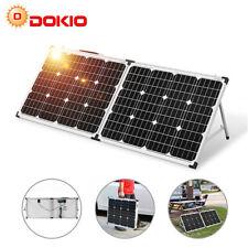 Dokio 100W Portable Foldable Solar Panel Car Battery Charger/Caravan/Garden/Home