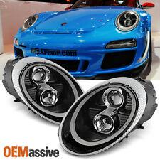 Fits Black 2005-2012 Porsche 911 997 Carrera GT3 LED DRL Projector Headlights