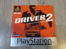 MANUEL ONLY NOTICE DRIVER 2 PLAYSTATION 1 PS1 PSONE