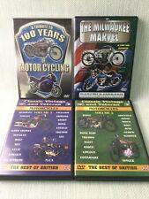 Vintage Motorcycle Motorbike DVD Bundle Special Interest x4 Classic Veteran W964