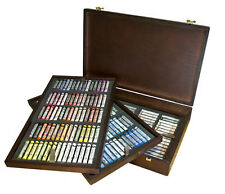 Rembrandt Artists Full Size Soft Pastels Wooden Box Set - 225 Assorted
