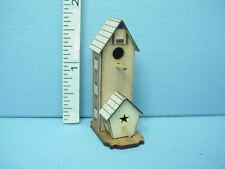 Dollhouse Miniature Bird House Double Roof 2 Story #B Laser Creations 1/12th