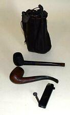 2 Pfeifen Bristol,Denicotea-Sport,Tabakbeutel Leder u. Pfeifen-Feuerzeug|277.1.6
