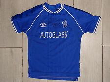 Maillot signé jersey FC CHELSEA blues signed GUS POYET ultras foot