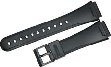19MM PVC WATCH BAND BLACK FITS CASIO AQ47