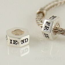 ❤ FRIEND SPACER Genuine 925 sterling silver charm bead european for bracelet ❤