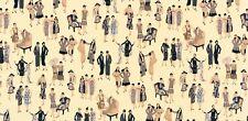 1 x Half Metre Length Glamour Girls 1920s ladies Fabric - 16516-200
