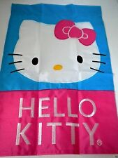 "HELLO KITTY Outdoor Decorative Garden Flag by Sanrio 12"" x 18"" Pink Blue NEW"