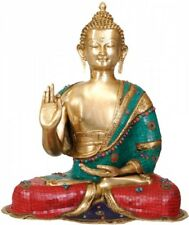 """Large Size Home Garden Indoor Outdoor Décor Blessing Buddha Big Statue 28"""""""