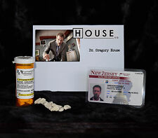 "TV SERIES HOUSE MD REPLICA PROP ""GREGORY HOUSE"" VICODIN BOTT:E & DRIVERS LICENSE"