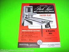 PARK LANE By CHICAGO COIN 1967 ORIGINAL SHUFFLE ALLEY ARCADE MACHINE SALES FLYER
