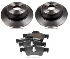 For Mercedes W221 S550 CL550 SL550 Pair Set of 2 Rear Brake Disc Rotor w/ Pads
