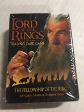 LORD OF THE Rings Fellowship Of The Ring Gandalf  Starter Deck Factory Sealed