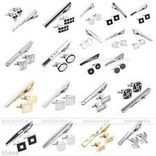 3pc Men's Stainless Steel Necktie Tie Clip Clasp Bars Pin + Cufflinks Gift Set