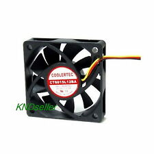 COOLERTEC 60mm 6cm Silent Case CPU Fan Quiet Computer Cooler Heatsink 3Pin 12V