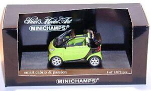 Smart Cabrio & Passion Aqua Green (2000) 1:43 MINICHAMPS