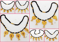 South Indian Jewelry Ethnic Gold Plated Kanthi Necklace Chain Beautiful 22k Mala