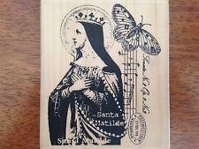 Santa Matilde Vintage Collage Rubber Stamp Stampington & Co. K5525