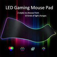 Oversized RGB Colorful LED Lighting Gaming Mouse Pad Keypad Mat for PC Laptop