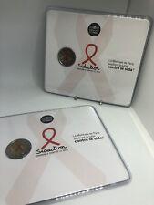 2€ BLISTER COINCARD FRANCIA 2014 AIDS COLOR BU (Vaticano San Marino)
