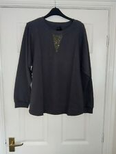 NEW LADIES SWEATSHIRT, GREY, B.YOU, UK SIZE 16.