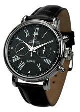 "POLJOT Int. Chronograph Herrenuhr ""Baikal"" Mechanisch Lederband schwarz watch"