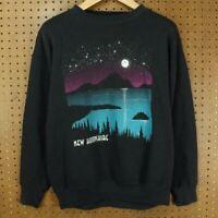 vtg 80s 90s usa made NEW HAMPSHIRE tourist sweatshirt LARGE faded aesthetic