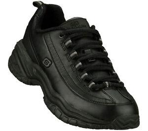 Skechers 76033 Women's Work Shoes Soft Stride-Softie Slip Resistant Black A6
