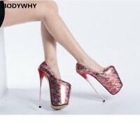 High Super High Drag Queen Men's Heels Platform Crossdresser Shoes Stiletto