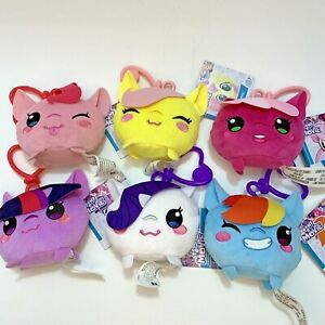 New My Little Pony Set of 6 Clip-On Plush Dolls Rarity Cheerilee 4 inch Gift