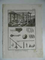 Engraving 18th Plank No ° 6 ARDOISERIE D'Anjou Engraved Per Robert Benard