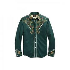 Ralph Lauren RRL Green Embroidered Japanese Wool Western Shirt XL New $495