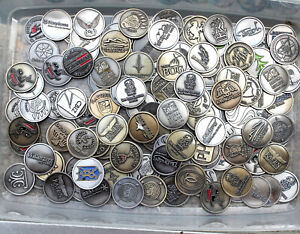BATCH 16  ASSORTED LOGO GOLF BALL MAGNETIC COIN  MARKERS COLLECTION BRASS SILVER
