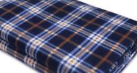 Tent Carpet 300cm x 130cm - Black, White and Orange Patterned fleece carpet