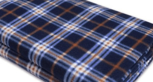 Tent Carpet 300cm x 140cm - Blue, White and Orange Patterned fleece carpet