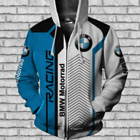 BMW MOTORRAD Racing-TOP GIFT-Top Men's Zipper Hoodie 3D-SIZE S TO 5XL