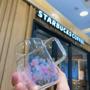 Starbucks Pink Sakura Color-changing Glass Coffee Mugs Milk Cups Limited Edition