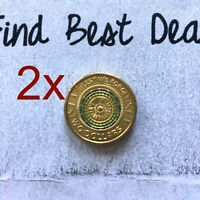 🇦🇺2x 2017 $2 Two Dollar ANZAC Remembrance Lest We Forget Coin in Capsule📮FREE