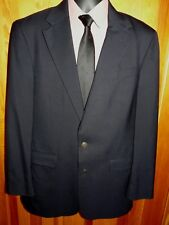 Oscar De La Renta Navy Blue Blazer Jacket Sport Coat ~ 100% Wool ~ Lined ~ 42L