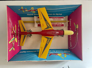 Dynajet Whiz Vintage 80s Flying Airplane Toy, Still New In Box