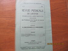 Revue Médicale de Louvain N°11 1932 L'hépatisme