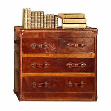 Ansonia Vintage Leather 4 Drawer Chest